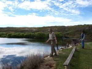 Fishing on the Ida Dam