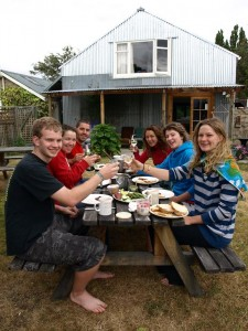 Breakfast infront of the Backpacker